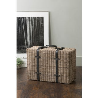East At Main's Kingswood Brown Rectangular Rattan Storage Decor