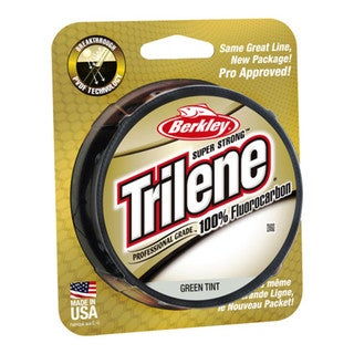 "Berkley Trilene 100% Fluorocarbon Professional Grade Line Spool 200 Yards, 0.010"" Diameter, 6 lbs, Breaking Strength, Green Tint"