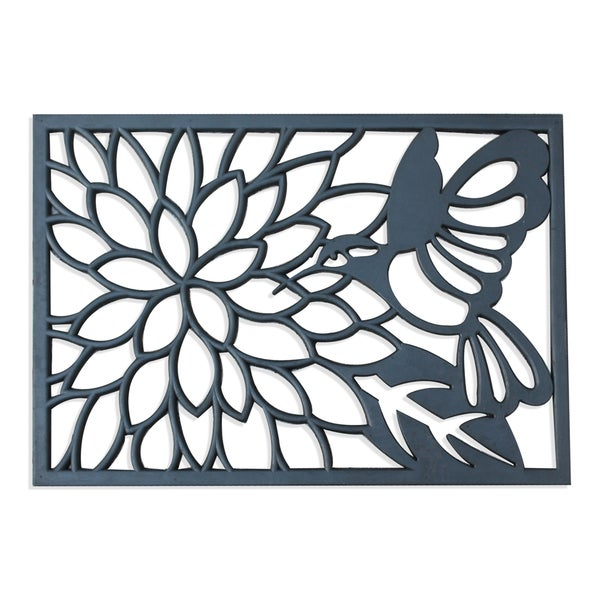 A1HC First Impression Rubber Hummingbird Doormat (1'8 x 2'6)