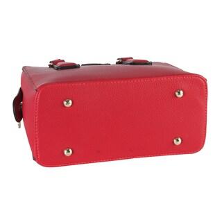 Diophy Top-handle Zipper-closure Mini Satchel Handbag