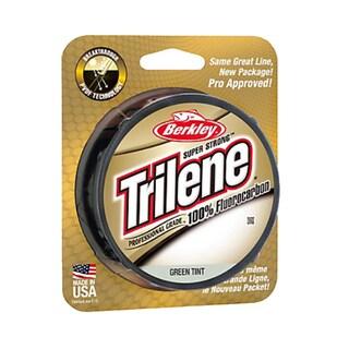 "Berkley Trilene 100% Fluorocarbon Professional Grade Line Spool 200 Yards, 0.007"" Diameter, 4 lbs Breaking Strength, Green Tint"