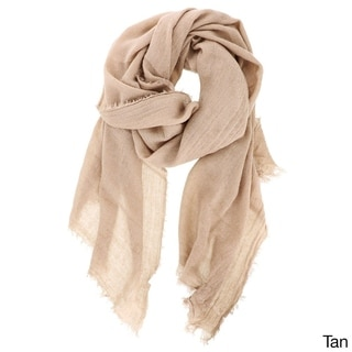 LA77 Solid Acrylic Long Knit Scarf
