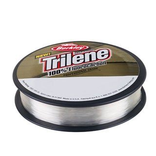 "Berkley Trilene 100% Fluorocarbon Professional Grade Line Spool 110 Yards, 0.010"" Diameter, 6 lbs, Breaking Strength, Clear"