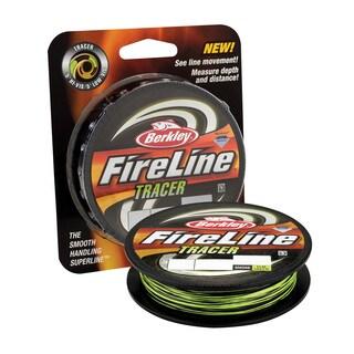 "Berkley FireLine Fused Tracer Superline Line Spool 1500 Yards, 0.015"" Diameter, 30 lb Breaking Strength, Smoke/Flame Green"