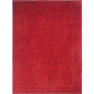 Mani Overdyed Red Wool Rug (9'11 x 13'9)