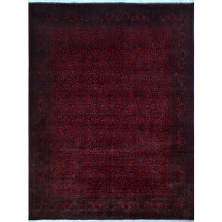 Khal Mohammadi Atif Red/Black Wool Rug (8'7 x 11'5)