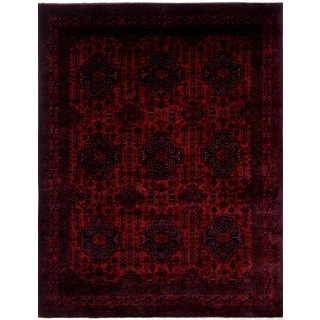 Khal Mohammadi Khabir Red/Black Wool Rug (9'10 x 12'11)