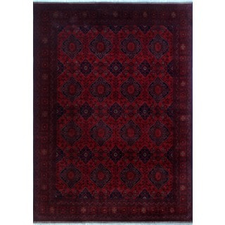 Khal Mohammadi Ashik Red/Black Wool Rug (8'2x11'3)
