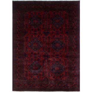 Khal Mohammadi Mutaal Red/Black Wool Rug (8'2 x 11'1)