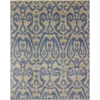 Fine Oushak Kimball Grey/ Blue Area Rug (8' x 10'1)