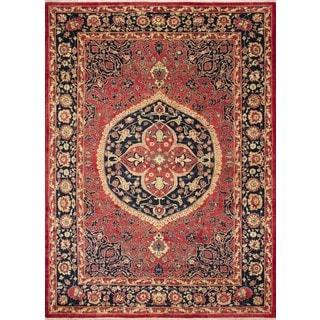 Peshawar Northstar Red/Blue Wool Area Rug (9'1 x 11'7)