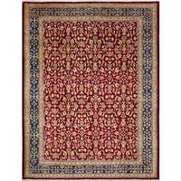 Noori Rug Peshawar Zuhair Red/Blue Rug - 8'10 x 11'6