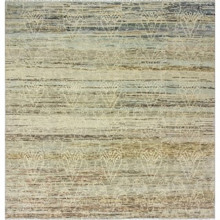 Fine Oushak Greyson Beige/Light Brown Wool Rug (9'0 x 9'1)