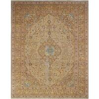 Distressed Overdyed Arsh Beige/Brown Rug (9'7 x 12'5) - 9'7 x 12'5