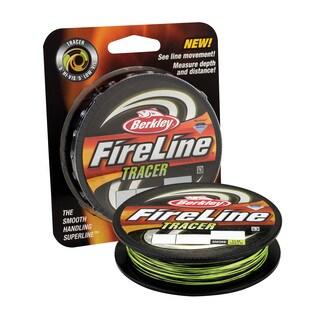 "Berkley FireLine Fused Tracer Superline Line Spool 300 Yards, 0.015"" Diameter, 30 lb Breaking Strength, Smoke/Flame Green"