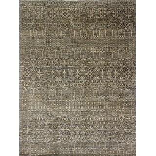 Fine Oushak Lilliana Blue/Gold Wool Area Rug (9'1 x 12'2)