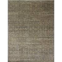 Fine Oushak Lilliana Blue/Gold Wool Area Rug (9'1 x 12'2) - 9'1 x 12'2