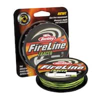 "Berkley FireLine Fused Tracer Superline Line Spool 125 Yards, 0.015"" Diameter, 30 lb Breaking Strength, Smoke/Flame Green"