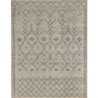 Fine Oushak Kashif Grey/Charcoal Wool Rug (8'0 x 10'1)