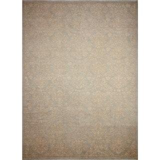 Noori Rug Peshawar Reid Grey-Blue/Ivory Rug - 10'0 x 13'7