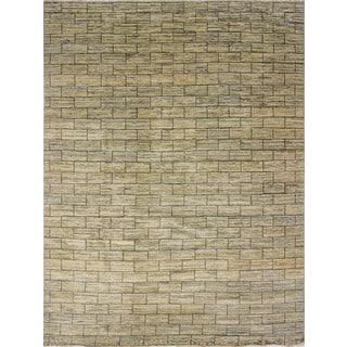 Fine Oushak Leigh Beige/Charcoal Wool Area Rug (9'1 x 12')