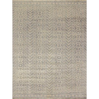 Fine Oushak Kyndall Grey-green and Ivory Rug (9'1x12')