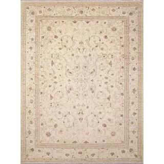 Faded Peshawar Ahmed Ivory/Ivory Wool Area Rug (8'11 x 12'0) - 8'11 x 12'0