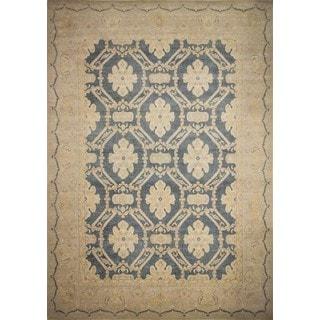 Peshawar Elton Blue/ Grey /Beige Wool Rug (12'11 x 17')