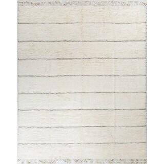 Fine Moroccan Eduardo Ivory/Beige Wool Rug (12' x 15')