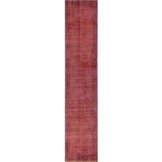 Almir Red/Black Distressed Overdyed Rug (2'6 x 13'1)