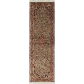 Pak-Persian Imtal Grey, Rust Wool Rug (2'9 x 8'2)