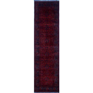 Khal Mohammadi Qayyum Red/Black Wool Hand-knotted Rug (2'8 x 9'6)