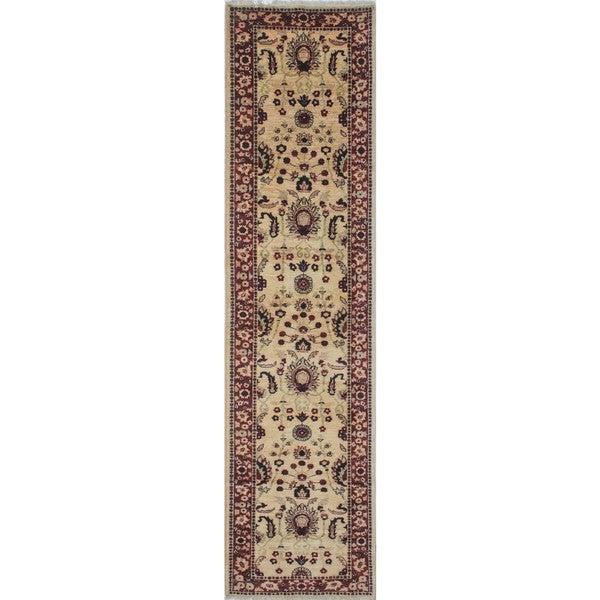 Peshawar Joy Gold/Rust Wool Rug (2'8 x 10'9)