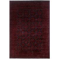Khal Mohammadi Aqdas Red and Black Wool Area Rug (6'8x9'8)