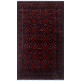 Noori Rug Khal Mohammadi Azfer Red/Black Rug - 4'0 x 6'5