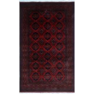 Noori Rug Khal Mohammadi Akhtar Red/Black Rug - 4'1 x 6'6