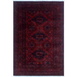 Khal Mohammadi Aslam Red/ Black Wool Rug (4'2x6'4)
