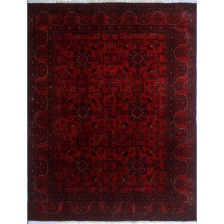 Khal Mohammadi Ayub Red/ Black Wool Area Rug (4'11 x 6'4)