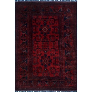 Khal Mohammadi Awad Red/ Black Area Rug (3'3 x 4'11)