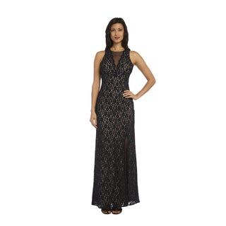 Nightway 1224 Glitter Lace Evening Dress