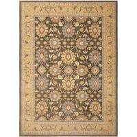 Peshawar Lilly Green/ Gold Area Rug (9' x 12'5)
