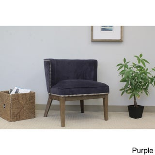 The Gray Barn Sandstone Driftwood Accent Chair (Option: Purple)