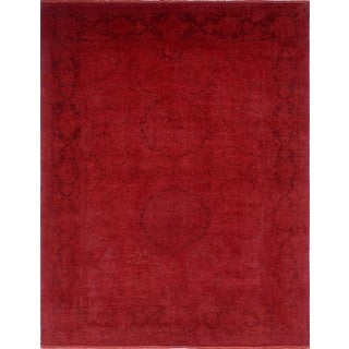 Overdyed Sabour Red/ Dark Red Area Rug (7'9 x 10'3)