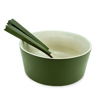 Olive Serving Bowl with Servers (Thailand)