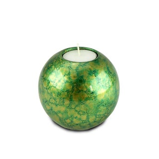 Green/ Gold Tea Light Candle Holder (Thailand)