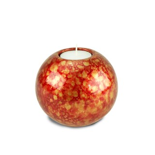 Handmade Copper/ Red Tea Light Candle Holder (Thailand)