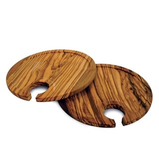 Set of 2 Olive Wood Appetizer Plates (China)