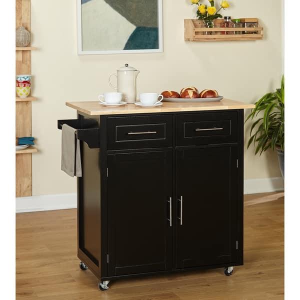 Shop Simple Living Malibu Modern Rolling Kitchen Island ...