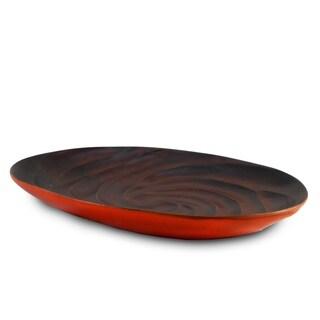 Handmade Tangerine Spiral Platter (Thailand)