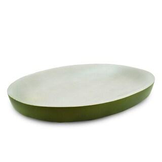 Handmade Olive Oval Platter (Thailand)